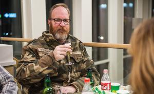 """Peck Ödmark åkte från Härnösand till smygöppningen i Birsta. """"Jag har ätit fyra mackor"""", erkänner han."""
