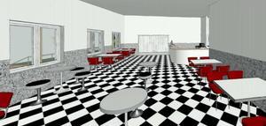 Den andra skissen på det planerade samlingsrummet. Foto: Beautytown cruisers