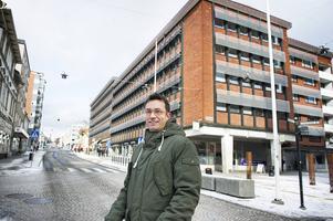 Fredrik Nordin på Byggsigurd säger att Dollarstore kommer till Örnsköldsvik i slutet av mars. Bild: Maria Edstrand
