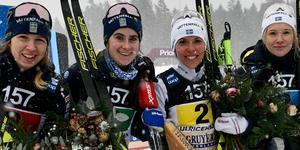 Eveline Settlin, Ebba Andersson, Charlotte Kalla och Jonna Sundling åkte in en andraplats för Sverige i söndagens stafett.