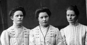 Anställda i bageriet. Bland annat systrarna Lisa och Greta Johansson.