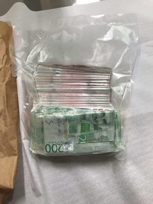 39-åringen hävdade under rättegången att han ville vacuumförpacka sedlar för att hålla ihop dem. Foto: Polisen