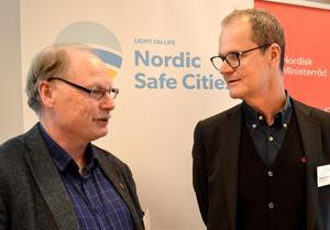 Kenneth Persson, Borlänge kommun, och Tomas Axelsson, Högskolan Dalarna ser utmaningar.