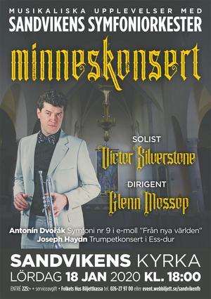 Victor Silverstone spelar med Sandvikensymfonikerna. Bild: facebook.com.