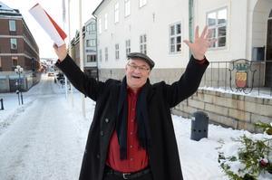 Alf Tangnäs representerar FaluFolk Musik och Dans. Foto: Falu kommun.