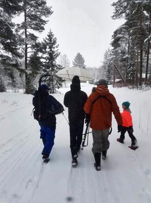En del av inspelningarna gjordes ute i snön. Foto: Privat