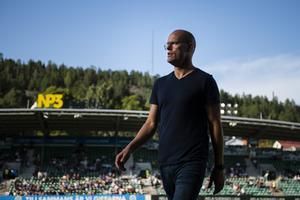Joel Cedergren i mötet med BK Häcken tidigare i år. Bild: Erik Mårtensson/TT.