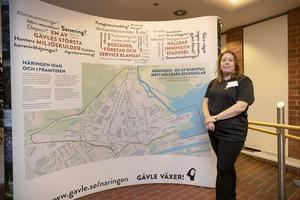 Katarina Johansson är så kallad programledare för Näringenprojektet hos Gävle kommun och var en av de som mötte områdets företagare under träffarna i november.