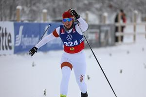 Stine Lise Truu under lördagens distanslopp i Bruksvallarna