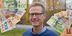 Oppositionsrådet i Gagnef, Anders Bengtsson (KD) berättar att en enig opposition står bakom förslaget om att sänka kommunalskatten. Bilden är ett montage.