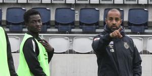 Ibrahim Alhassan och tränaren Marcus Bengtsson.
