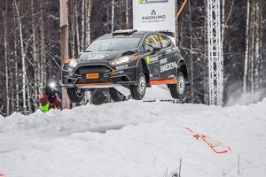 Johnny Andersson tog sig igenom Svenska rallyt utan större problem.Foto: Fredrik Värnebjörk