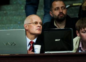 Stefan Lunner på läktaren under sin tid som målvaktstränare i CSKA Moskva 2009-2011. Foto: Bildbyrån.