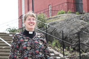 Ingrid Dahlström, präst i Nynäshamns kyrka.