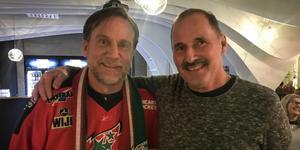 Efter 40 år fick Peter Larsson från Eskilstuna träffa sin idol Robert Frestadius. Bild: David Gagnert Dalgren
