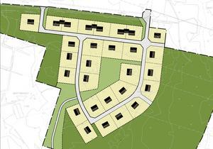 Området Södra Brattberget där det nu skapas 28 villatomter. Vad priset blir för tomterna är dock inte klart.