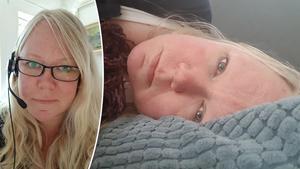 Foto: PrivatLyckas med det omöjliga. Tina Svedin, 44 år, håller sig kvar i arbetslivet som medicinsk sekreterare på en psykiatrisk mottagning. Men det tar alla hennes krafter. Hon blir liggande i soffan hemma efter en arbetsdag. Tina har en sjukdom som yttrar sig i  utmattning.