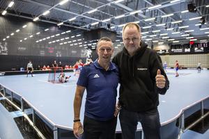 Patrik Klockare Bäck och Mats Andréason är nöjda med årets innebandycup.