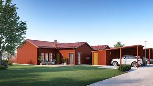 Skiss av de nya husen. Foto: Pressbild
