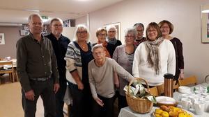Deltagarna i engelsk konversation har träffats under hösten i Hudiksvall. Foto: Maj-Britt Norlander.