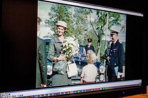 Prinsessan Margaretha besöker Aspnäs barnkoloni i samband med barnens dag i Härnösand, 1959. Evenemanget filmades av  Karl-Erik Forslund som drev en fotoaffär.