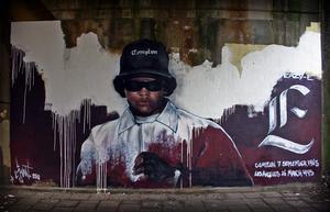 Minnesporträtt av Eazy-E av gatukonstnären Ljvant 2010. Foto: Ljvant