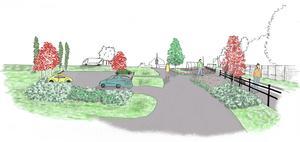Så här skulle det kunna se ut i Nälden där hållplatsen planeras.