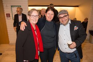 Monica Malmgren, Helena Hellström och Eduardo Morris.