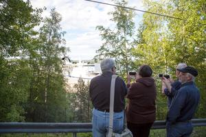 Ocean Gala väckte stor uppmärksamhet under tiden i Utansjö hamn.