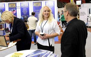 Ann-Louise Kleen, ordförande i företagarföreningen i Sandviken, är nöjd trots att årets företagarmässa lockade färre besökare än förra gången för två år sedan.