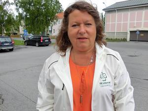 Eva Hellstrand (C) som toppar landstingslistan