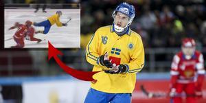 Erik Säfström. FOTO: Skärmdump från SVT:s sändning och Rikard Bäckman/Bandypuls.se/TT