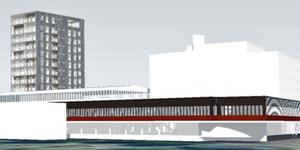Planen gör det möjligt att bygga Borlänges högsta hus. Bild: RK Arkitektur AB.