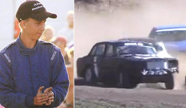 Marcus Åhman gjorde succé med sin Volvo på Tyckebanan.