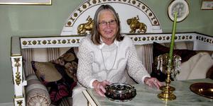 Siv Thomas var en älskad sagotant för barnen i Fagersta och spelade en stor roll i stadens kulturliv.                                                                        Foto: Margaretha Eriksson