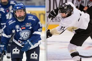 Emma Lind och Phoebe Staenz gjorde varsitt mål i matchen mellan Leksand och SDE. Bild: Bildbyrån