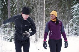 Ingrid Castillo från Uppsala har vunnit skidlegendaren Gunde Svans sällskap och coachning i Vasaloppsspåret. Gunde valde ut Ingrid efter att ha tränat med henne och de båda andra kandidaterna. Foto: Preem/Pressbild