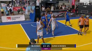 Guns 'n' roses vann med 15–13 mot Blouses under SM-veckan i Malmö.