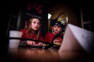 Matilda Käck, 11, och Kevin Salman, 11, representerade Håkbergsskolan i Ludvika.