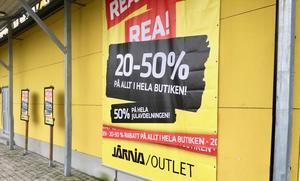 Järnia Outlet har påbörjat utförsäljning, hög rabatt lämnas på alla varor i butiken. Enligt uppgift stänger Nässjöbutiken den sista mars.