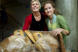 Hudiksvalls kommuns kostchef Katarina Niemi (till vänster) tyckte att Camilla Sparrings föreläsning om riktig mat var intressant.