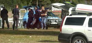 Under måndagen sökte polisen efter den försvunne 26-åringen vid motorcrossbanan i Alfta.