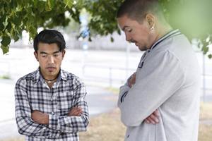 Hanif Nagavi och Jonathan Ojeda, som kämpar för att Hanif ska få stanna i Sverige, är nedslagna efter EU-domstolens besked.