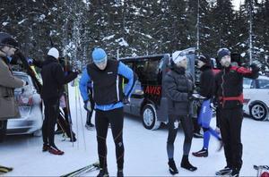 Det ska mer till än tidig fredag morgon och kall blåst för att en träning ska ställas in.