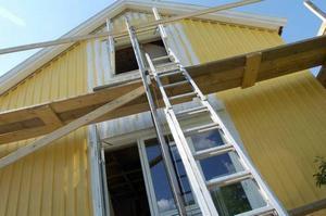 Stegar orsakar 20 procent av olyckorna. Allra vanligast är att stegen glider i väg eller faller rakt ut.