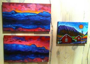 Ingrid Roths nya målningar hämtar inspiration från Svalbard.