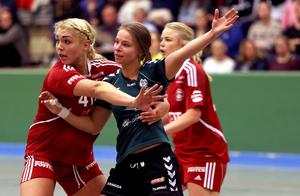 Moa Alexsson gjorde två mål från linjen och spelade fränt i försvaret.