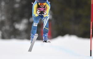 Agnes Dahlin, IF Hudik Alpin tvåa i YJSM i störtlopp.
