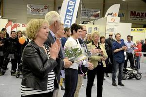 Kumlas kommunledning, med kommundirektör Ulla Lundholm främst i bild.