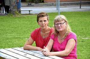 Oroliga. Simone Gustafsson och Maria Karlsson tog efter en tids turbulens initiativet till att återuppstarta Nattvandrarna.